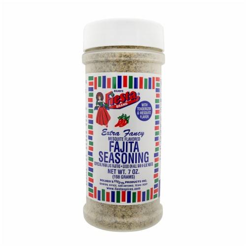 Fiesta Mesquite Flavored Fajita Seasoning Perspective: front