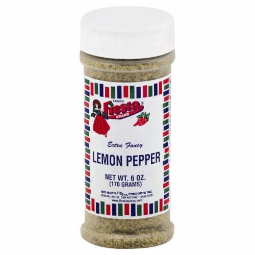 Fiesta Lemon Pepper Seasoning Perspective: front