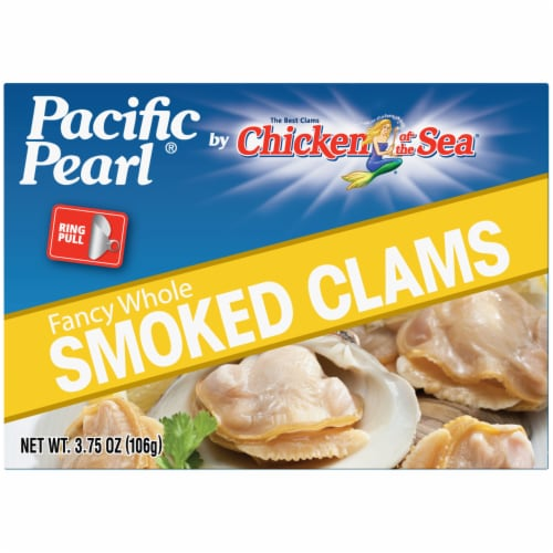 Pacific Pearl Whole Smoked Clams Perspective: front