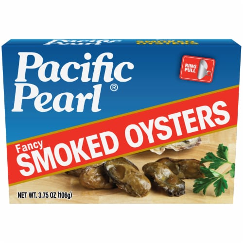 Pacific Pearl Smoked Oysters Perspective: front