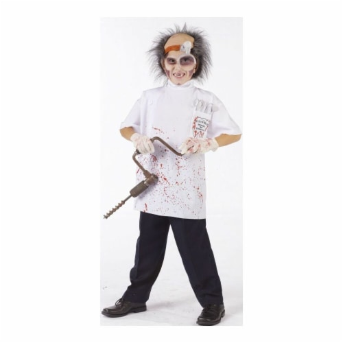Costumes For All Occasions FW130362MD Dr Killer Driller Child 8-10 Perspective: front