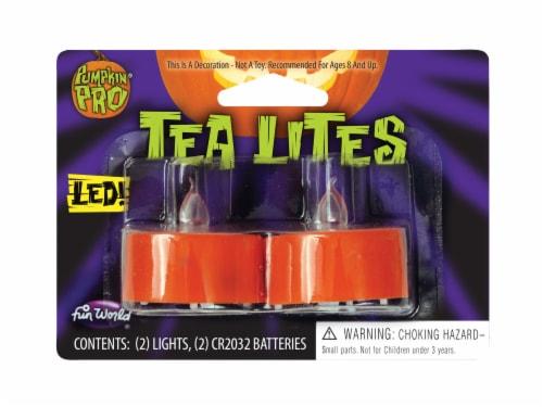 Fun World Pumpkin Pro LED Tea Lites - Orange Perspective: front