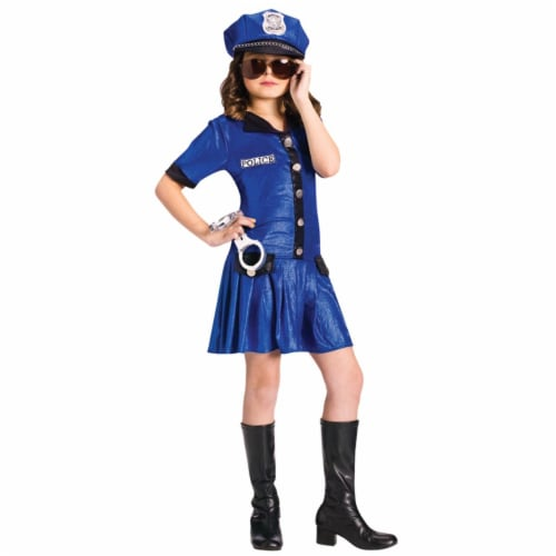 Costumes For All Occasions FW110752SM Small Police Girl Child Perspective: front