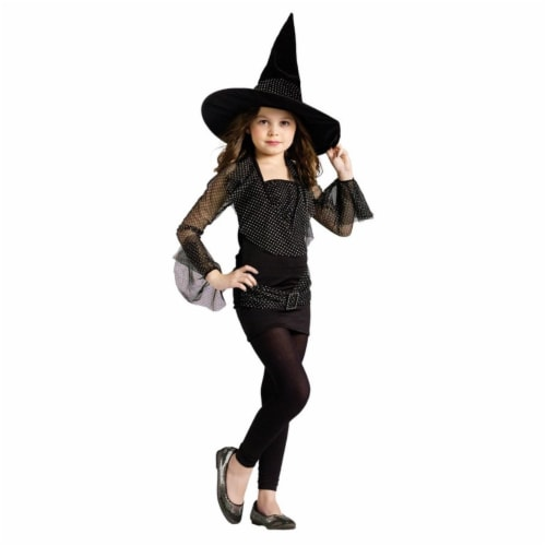 Costumes For All Occasions FW110902LG Large Sparkle Witch Child Perspective: front