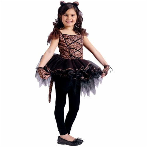 Costumes For All Occasions FW114092LG Ballerina Leopard Child 12-14 Perspective: front