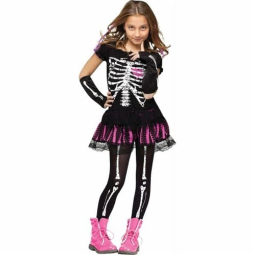Costumes for all Occasion Sally Skelly  Child's Costume - Size 8-10 Perspective: front