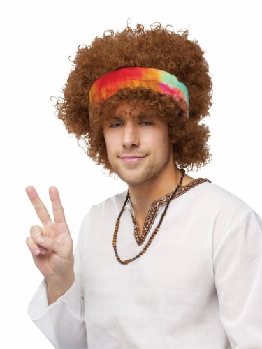 Fun World Adult Fro Wig Perspective: front
