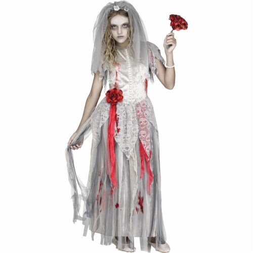 Fun World FW112962XL Zombie Bride Costume, Extra Large Perspective: front