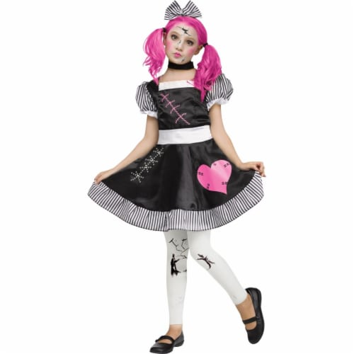 Morris Costumes FW124072LG Broken Doll Child Costume, Large 12-14 Perspective: front