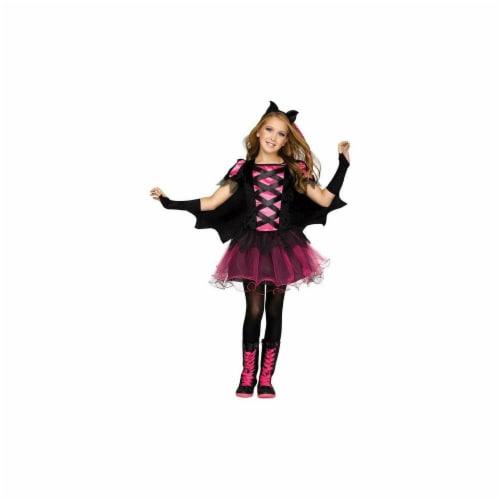 Funworld 249004 Bat Queen Child - Neon Pink, Large Perspective: front