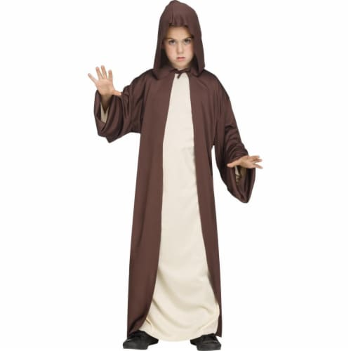 Fun World FW118272BN Hooded Robe Brown Child Costume, One Size Perspective: front