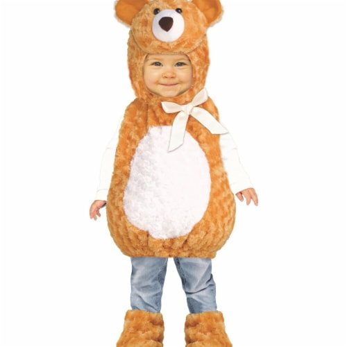 Funworld 271856 Teddy Bear Toddler Costume, Brown - 2T-4T Perspective: front