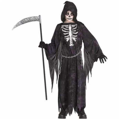 Morris Costumes FW135212MD Child Midnight Reaper Costume Dress - Medium, Size 8-10 Perspective: front