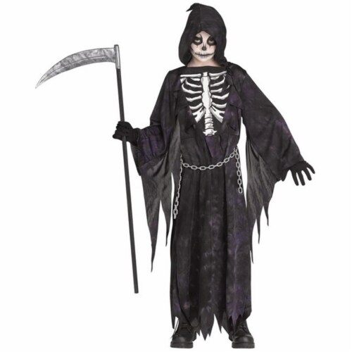 Morris Costumes FW135212LG Child Midnight Reaper Costume Dress - Large, Size 12-14 Perspective: front