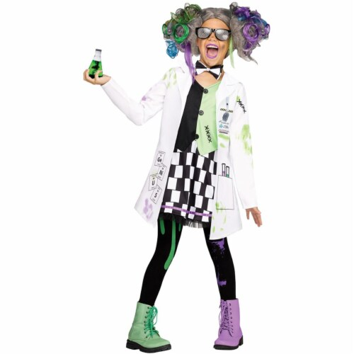 Fun World FW112322XL Mad Scientist Childs Costume - Extra Large Perspective: front
