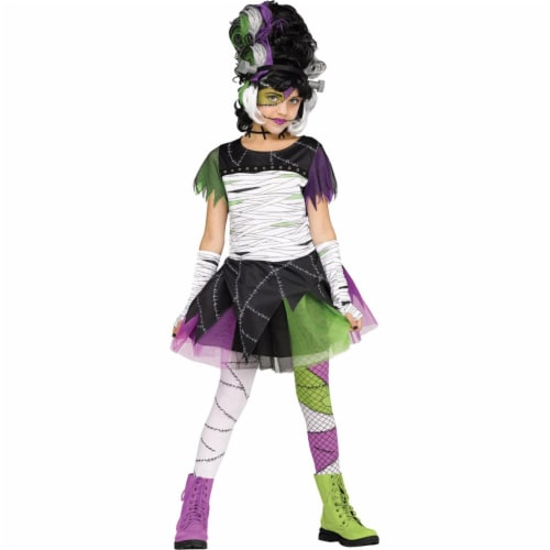 Morris Costumes FW112382MD Monster Bride Child Costume, Medium 8-10 Perspective: front