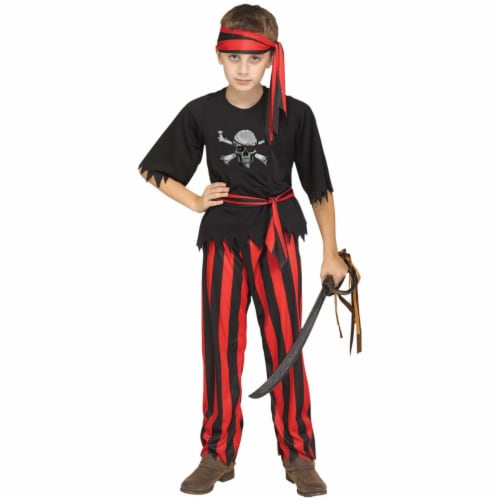Morris Costumes FW112802MD Jolly Roger Pirate Child Costume, Medium 8-10 Perspective: front