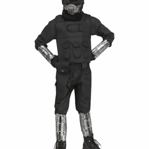Fun World 403397 Boys Gaming Fighter Costume - Medium Perspective: front