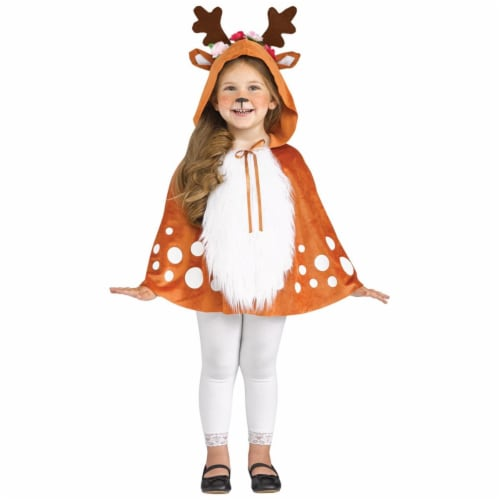 Morris Costumes FW111781L Cape Deer Hooded Toddler Costume, Size 2T-3T Perspective: front