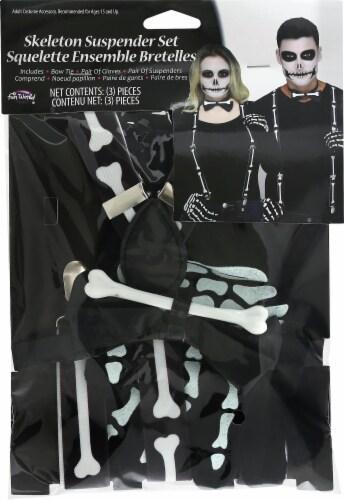 Fun World Skeleton Suspender Set Perspective: front