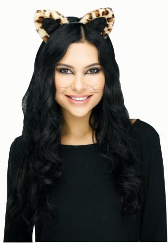 Cat Headband Leopard Perspective: front