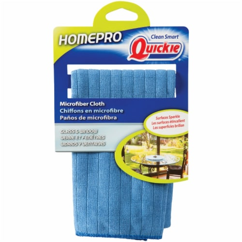 Quickie Home Pro Window Microfiber Cleaning Cloth 13 in. W x 15 in. L 1 pk - Case Of: 6; Each Perspective: front