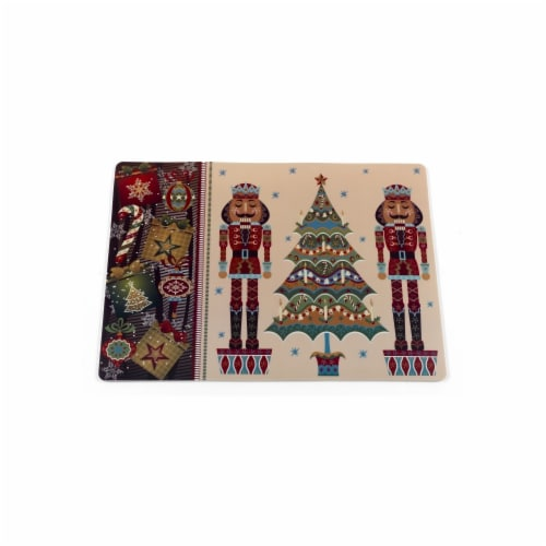 Carnation Home Fashions 11 x 18 in. Nut Cracker Holiday Place Mat, Multi Color - Set of 4 Perspective: front