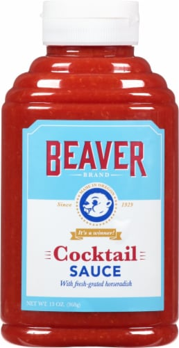 Beaver Brand Zesty Seafood Cocktail Sauce Perspective: front