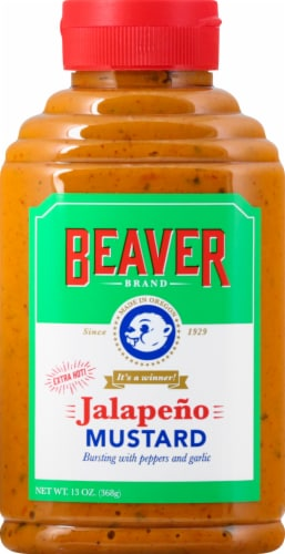 Beaver Brand Extra Hot Jalapeno Mustard Perspective: front
