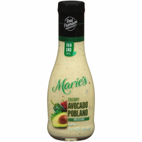 Marie's Creamy Avocado Poblano Dressing Perspective: front