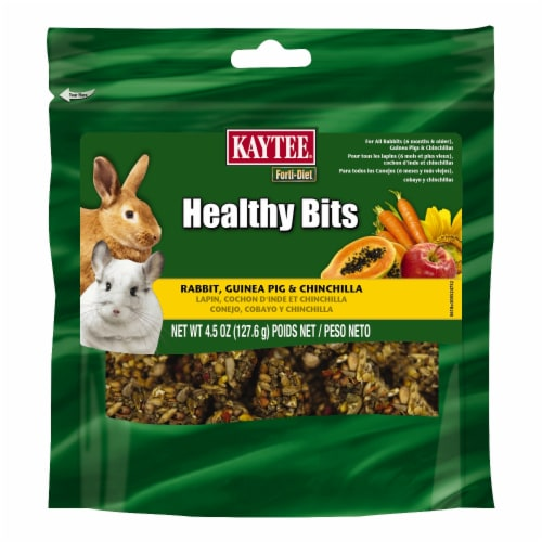 Kaytee Forti-Diet Health Bits Rabbit Guinea Pig & Chinchilla Food Perspective: front
