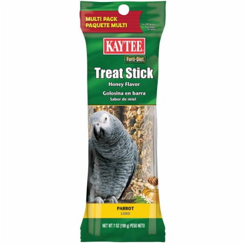 Kaytee Forti-Diet Parrot Honey Treat Sticks Perspective: front