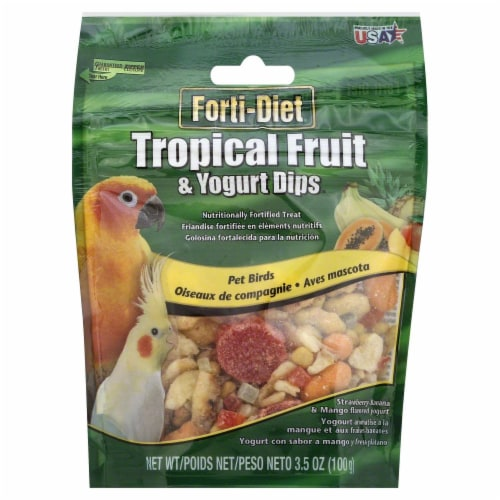 Kaytee Forti-Diet Tropical Fruit & Yogurt Dips Perspective: front