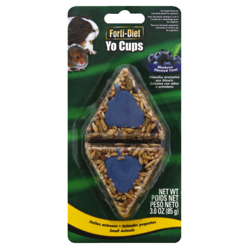 Kaytee Forti-Diet Yo Cups Blueberry Flavored Small Animal Treats Perspective: front