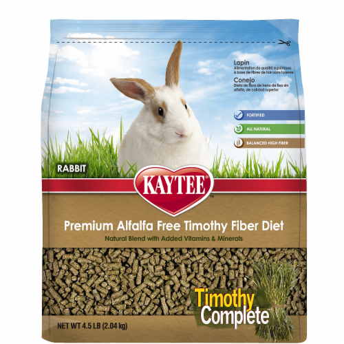 Kaytee Timothy Complete Rabbit Food Perspective: front