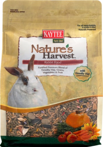 Kaytee Forti-Diet Nature's Harvest Healthy Food for Rabbit Perspective: front