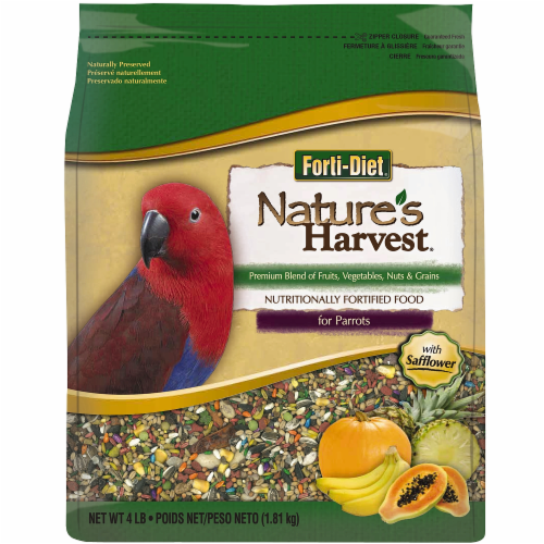 Kaytee Forti-Diet Nature's Harvest Parrot Food Perspective: front
