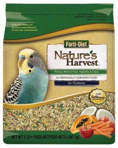 Nature's Harvest Forti-Diet Blend For Parakeets Perspective: front