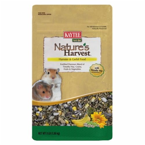 Kaytee Forti-Diet Nature's Harvest Healthy Food for Hamsters & Gerbils Perspective: front
