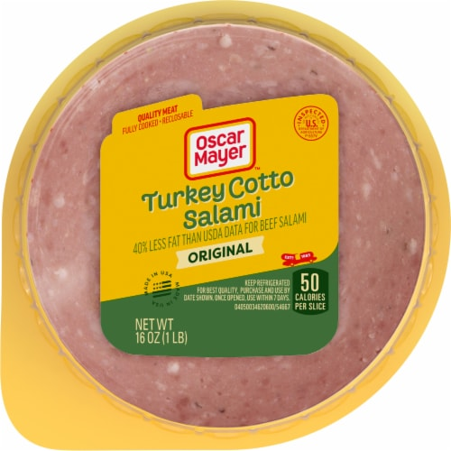 Oscar Mayer Turkey Cotto Salami Perspective: front