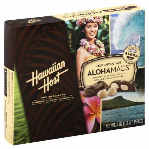 Hawaiian Host AlohaMacs Milk Chocolate Macadamia Nuts Perspective: front
