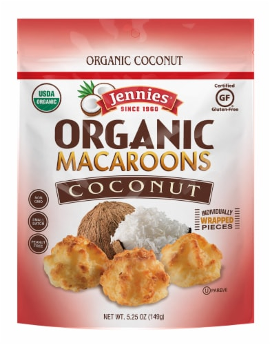 Jennies Organic Coconut Macaroons Perspective: front