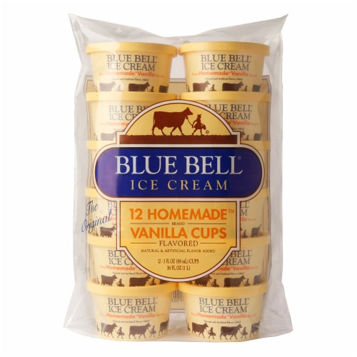 Blue Bell Homemade Vanilla Cups Perspective: front