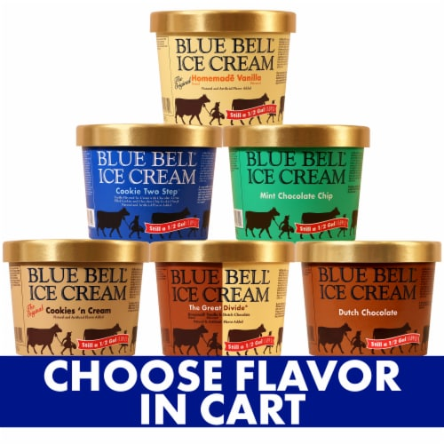 Blue Bell Assorted Ice Cream Perspective: front