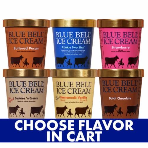 Blue Bell Cookies & Cream Ice Cream Perspective: front