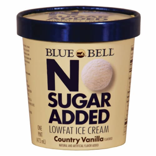 Kroger Blue Bell Country Vanilla Ice Cream No Sugar Added