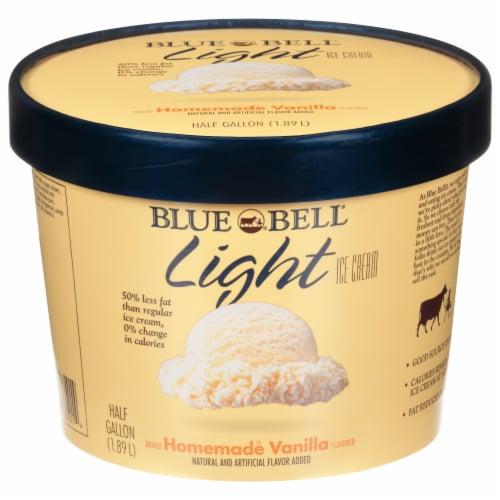 Blue Bell Homemade Vanilla Light  Ice Cream Perspective: front
