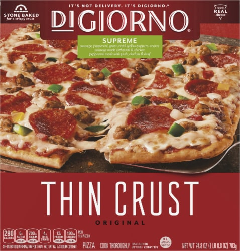DiGiorno Original Thin Crust Supreme Pizza Perspective: front