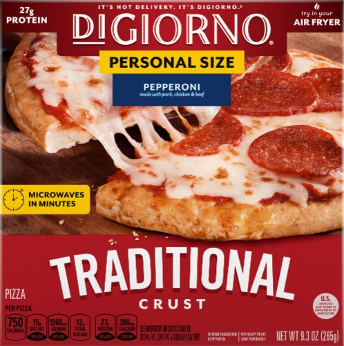 DiGiorno Pepperoni Traditional Crust Pizza Perspective: front