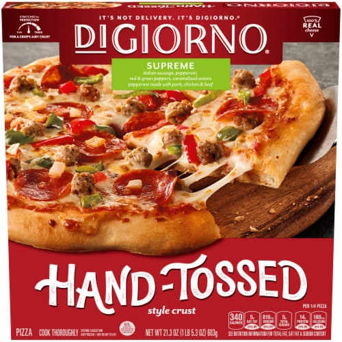 DiGiorno Pizzeria Hand-Tossed Style Crust Supreme Pizza Perspective: front